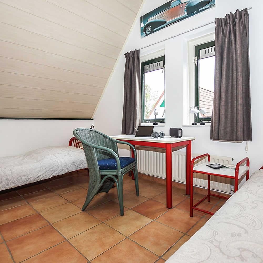 Schlafzimmer im OG mit 2 Einzelbetten
