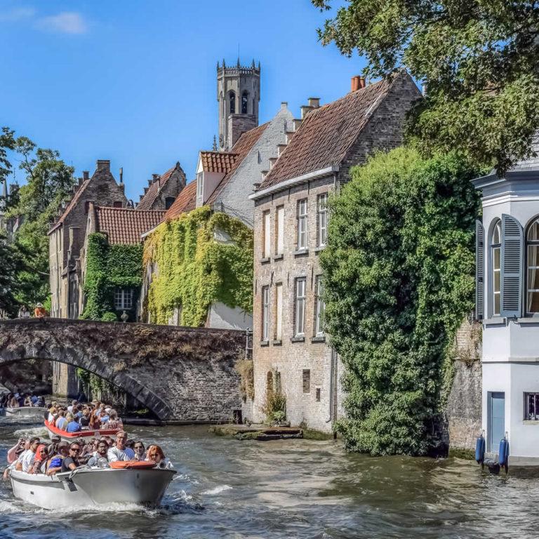Bootstour durch Brügges Grachten
